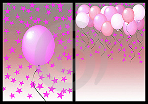 Happy Birthday Greeting Card Front And Back. Fmale Stock Images - Image: 19444544