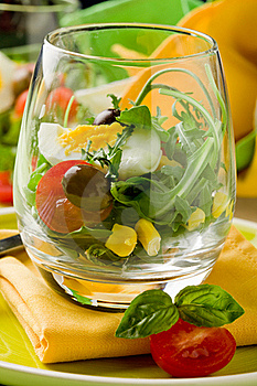 Mixed Salad Inside A Glass Stock Images - Image: 19446244