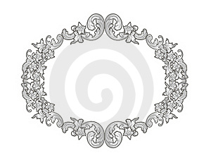 Silver Floral Frame Stock Images - Image: 19446264