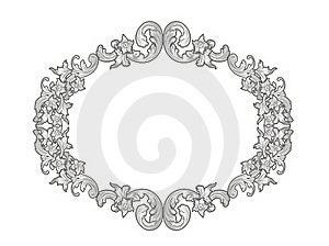 Silver Floral Frame Stock Images - Image: 19446264