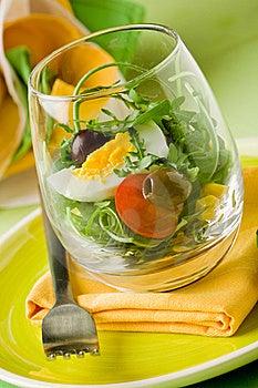 Mixed Salad Inside A Glass Stock Photos - Image: 19446313