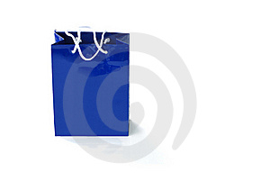 Blue Paper Bag Stock Image - Image: 19448131