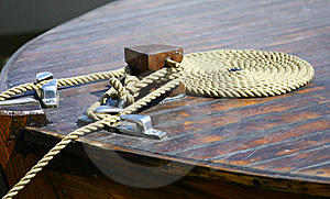 Boat Rope On Dock Royalty Free Stock Photo - Image: 19449515