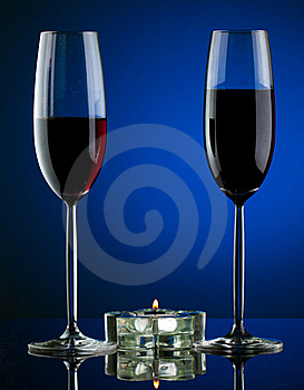 Glass Of Wine In Studio Royalty Free Stock Photos - Image: 19449848