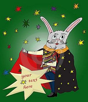 Cartoon Magic Conjurer Rabbit Royalty Free Stock Photo - Image: 19450795