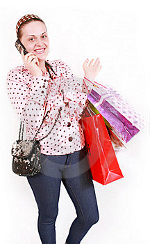 Woman With Purchases Royalty Free Stock Images - Image: 19453359