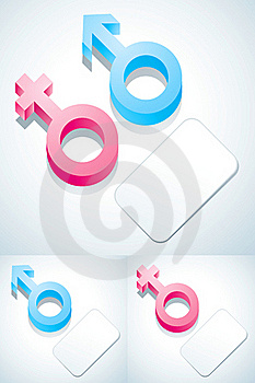 Symbols Of Male And Female Royalty Free Stock Image - Image: 19454366