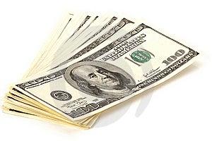 Heap Of 100 Dollars Banknotes Royalty Free Stock Photography - Image: 19456187