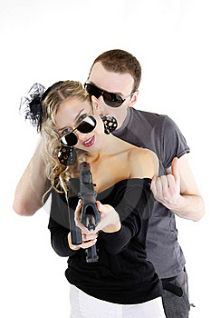 Modern Bonnie And Clyde Royalty Free Stock Photo - Image: 19457255