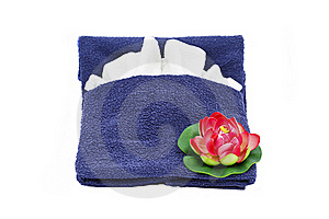 Towel And Flower Royalty Free Stock Image - Image: 19457836