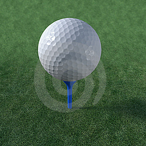 Golf Ball Teed Up Ready To Play Stock Photo - Image: 19459360