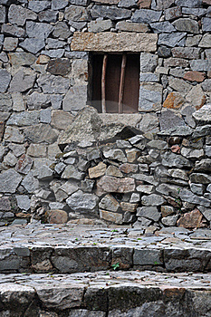 Small Window On Stone Wall Royalty Free Stock Photo - Image: 19459715