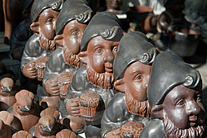 Cute Garden Gnome Dwarf Elf Royalty Free Stock Photos - Image: 19460308