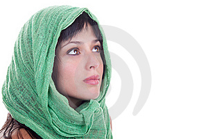 Beauty With A Head Scarf Royalty Free Stock Image - Image: 19460356