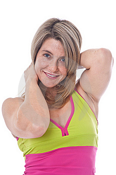 Active Blond  Woman Posing Royalty Free Stock Photo - Image: 19461485