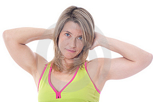 Active Blond  Woman Posing Royalty Free Stock Photos - Image: 19461508