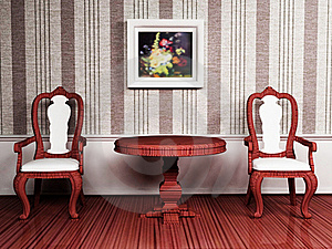 Classic Interior Design With Two Chairs Stock Photography - Image: 19461862