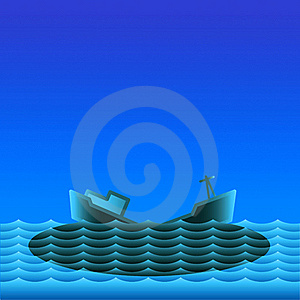 Ocean Oil Pollution. Royalty Free Stock Image - Image: 19462336