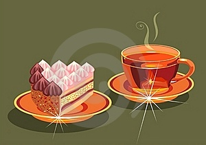 Tea And  Cake. Royalty Free Stock Photos - Image: 19463238