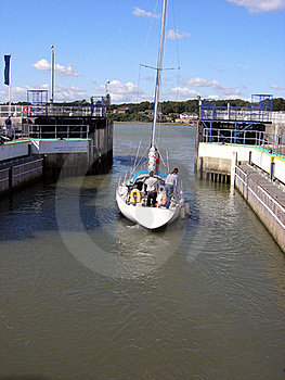 Leaving The Marina Royalty Free Stock Photo - Image: 19463575