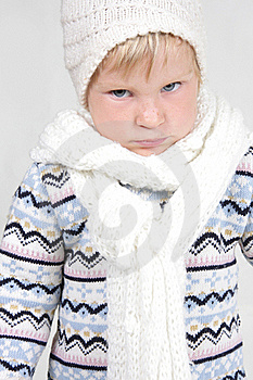 Cute Toddler In Winter Clothes Royalty Free Stock Photos - Image: 19464128