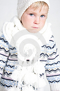 Child In Winter Clothes Royalty Free Stock Image - Image: 19464136