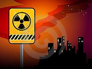 Nuclear Danger Warning Royalty Free Stock Photos - Image: 19464618