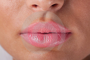Pink lips Royalty Free Stock Images