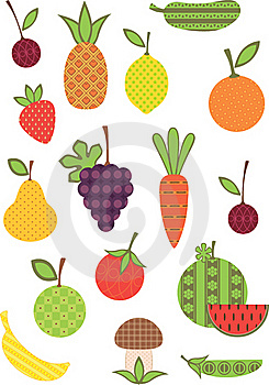 Fruit And Vegetable Collection. Royalty Free Stock Photography - Image: 19466347