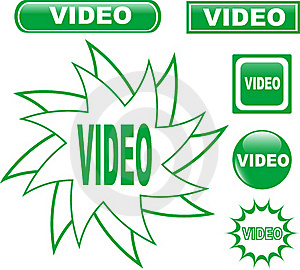 Button VIDEO Glossy Web Icons Set Stock Images - Image: 19466554