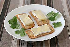 Toasts With Cheese Camembert Stock Photography - Image: 19466582