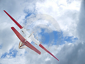 The Flying Up Plane Stock Photography - Image: 19467392