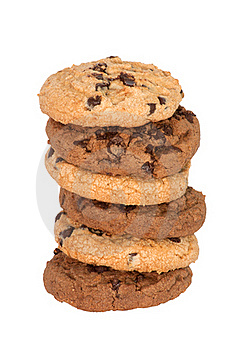 Chocolate Chips Cookies Royalty Free Stock Photography - Image: 19468017
