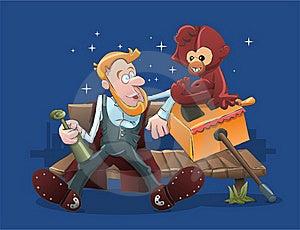 Organ Grinder And Monkey Stock Image - Image: 19468531
