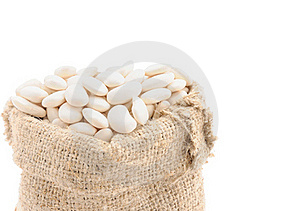Seeds Of Beans In A Bag. Stock Photo - Image: 19468620