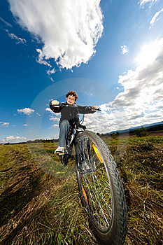 Young Boy Cycling Royalty Free Stock Photos - Image: 19470168