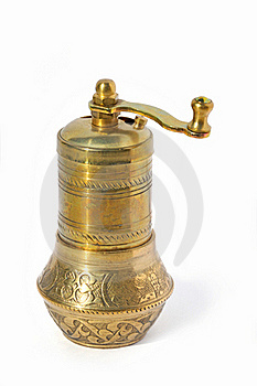 Antique Pepper And Coffee Grinder Royalty Free Stock Image - Image: 19473096