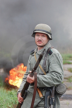 German Soldier Royalty Free Stock Photo - Image: 19478195