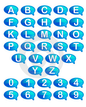 Set Of Alphabet And Number Royalty Free Stock Image - Image: 19481386