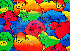 Colorful Sheeps Background Stock Photography - Image: 19484422