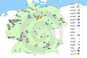 Locations Power Plants In Germany Stock Photos - Image: 19488043