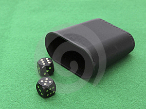Dice With Dice Cup Stock Photos - Image: 19488103
