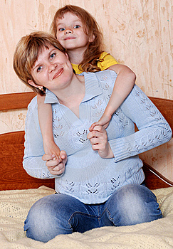 Happy Mom And Daughter Stock Images - Image: 19489584