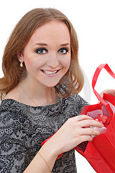 Portrait Of Young Woman With Shopping Bags Royalty Free Stock Image - Image: 19489726