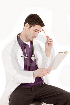 Male Doctor Thinking Stock Images - Image: 19491124