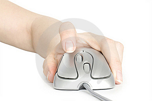 Computer Mouse In Hand Royalty Free Stock Photos - Image: 19491818