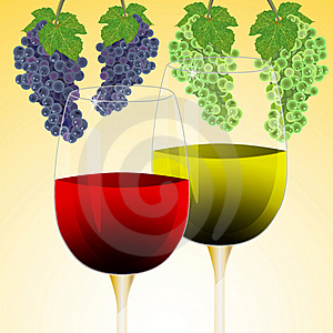 Wine And Grape Royalty Free Stock Image - Image: 19492346