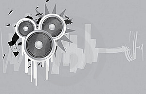 Urban Speakers For Flyers And More Stock Photography - Image: 19494252