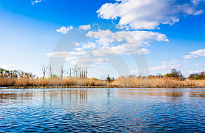 Clouds Reflection On Lake Stock Photo - Image: 19495660
