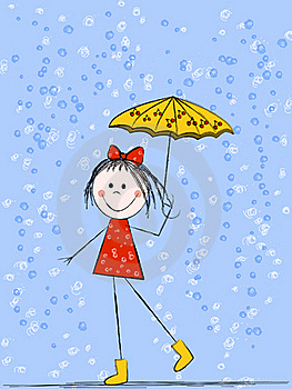 Girl With Umbrella Royalty Free Stock Photo - Image: 19495835